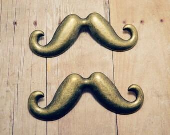 Large  Mustache Charm 2pcs R26794-O05