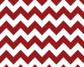 Riley Blake Chevron - Crimson - Medium - Fabric BTY