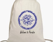 Wedding Welcome Backpacks - Drawstring Bags - Favors - Beach Bags - Natural Cotton Bag - Personalize NO EXTRA