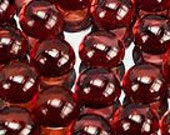 50% OFF LIST PRICE - One - 3mm Round Natural Red Garnet Cabochon