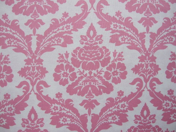 reserved for tracie...decorator fabric, tanya whelan fabric, pink picnic damask