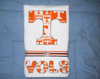 Univ of Tennessee Volunteers Kitchen Hand Towel, Tennessee Vols Bathroom Hand Towel, Univ of Tennessee Grad Gift, Volunteers Fan Gift