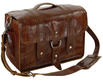Leather Diaper Bag New: - Hand - The Georgetown Travel Diaper Bag - Italian Caramel -