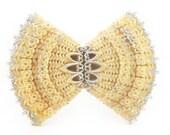 Elegant Celluloid Bow Brooch
