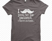 Awesome Autism T-Shirts: Moustache (MADE TO ORDER)