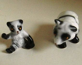 Mother and Son Panda Miniatures