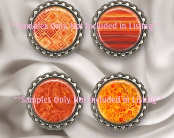 CU Orange Marmalade Digital Collage Abstract Texture 27 MM - 1 1/16 Inch Fat Circles Fat Bottle Cap Printable Diy Jewelry Instant Download
