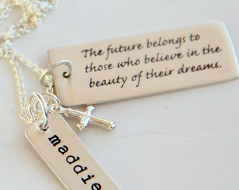 Religious Jewelry, Religious Graduation Gift, Cross Necklace, Religious Grad Gift, Cross, Faith. Confirmation,
