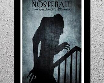 F.W. Murnau's Nosferatu - Max Schreck - Horror Movie Cult Limited Edition Original Art Poster Print - 13x19