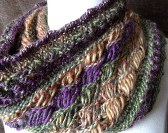 Loom Knit Drop Stitch Cowl PATTERN. Chic Retreat Cowl with video loom along