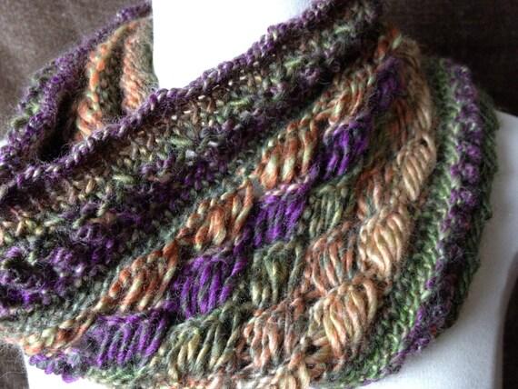 Loom Knit Drop Stitch Cowl PATTERN. Chic Retreat Cowl with