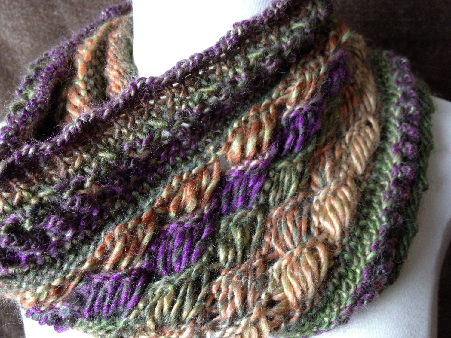 Knitted Drop Stitch Cowl Pattern : Loom Knit Drop Stitch Cowl PATTERN. Chic Retreat Cowl with