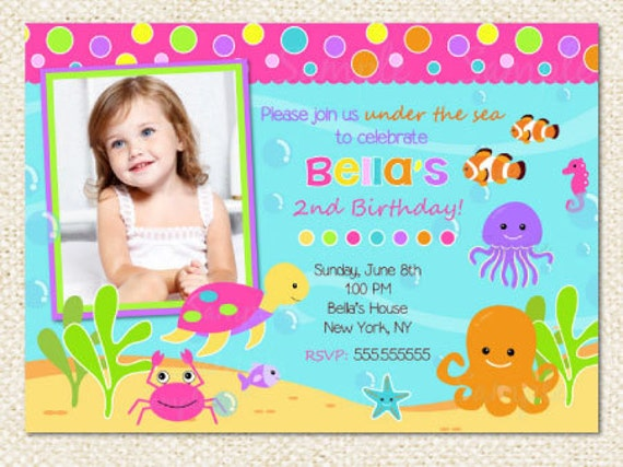 Under The Sea Party Invitations was great invitations layout