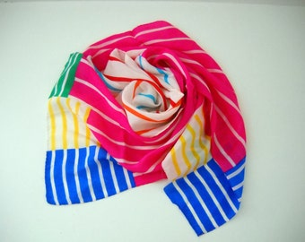 Bold Color Block with Strips Scarf by Liz Claiborne