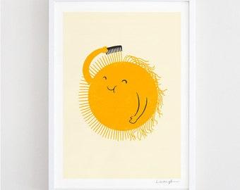 Bad Hair Day - art print