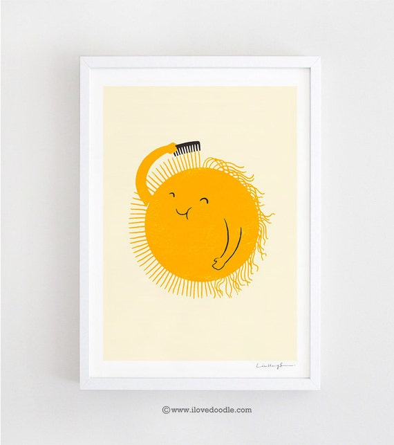 Bad Hair Day - art print