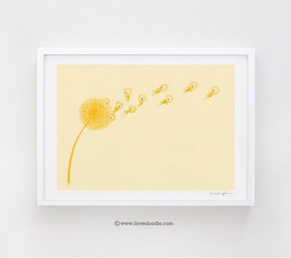 Dande(lions) - art print