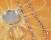 Necklace Kits - Round Pendant Tray, Cabochon, Shiny Ball Necklace - 500 kits
