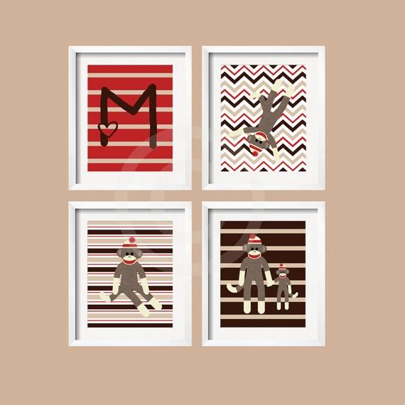 Sock Monkey Wall Art - Elitflat