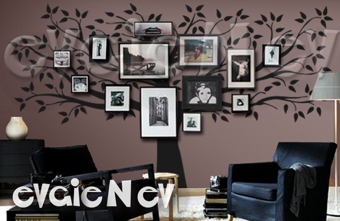 Photo Frame Family Tree Decal Wall Decals Wall Decor: Family Tree Wall Decal Picture Frame Wall Decals Wall