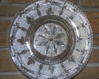 """Federal Glass Heritage Sandwich Glass Plate-11-1/2"""""""