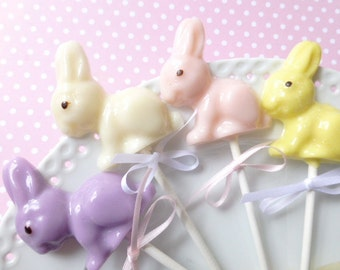 Easter Bunny Lollipops 8 pieces