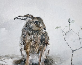 "Archival print 'Hare in the harr' 10"" x 12"""