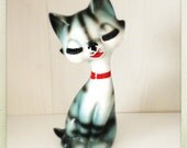 Vintage Mid Century Ceramic Cat Figurine