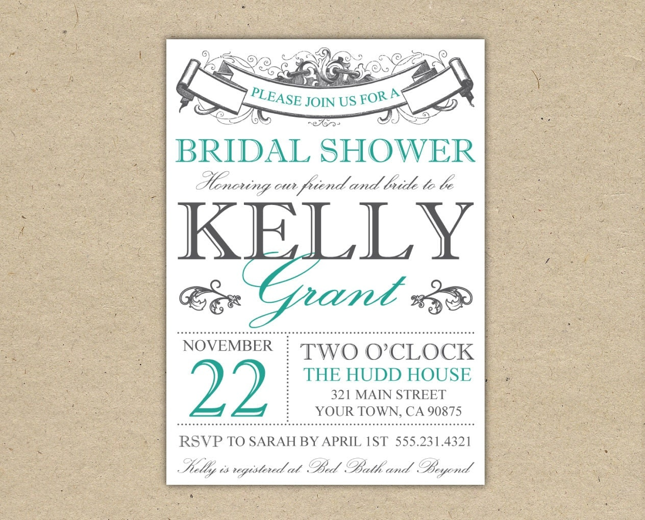 Bridal Shower Invitations Templates Printable Bridal shower invitation ...