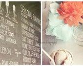 Ice Cream Art, Shabby Chic Art, Ice Cream Photography, Kitchen Wall Art, Orange and Mint, Kitchen Art, Food Photography, Ice Cream Print