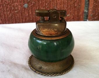 Vintage Emerald Green Tabletop Lighter