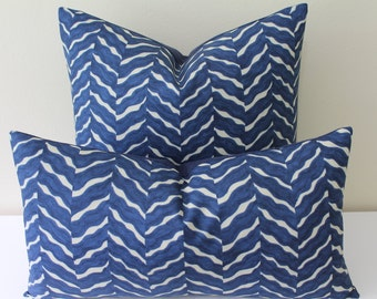 "Seacloth for Lee Jofa - Flutter in Midnight - 18"" x 18"" or 20"" x 20"" Square and Lumbar Sizes -Decorative Designer Pillow"