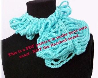 Instant download crochet scarf pattern, easy beginner pattern, pdf crochet pattern, DIY scarf pattern by Sandy Coastal Designs