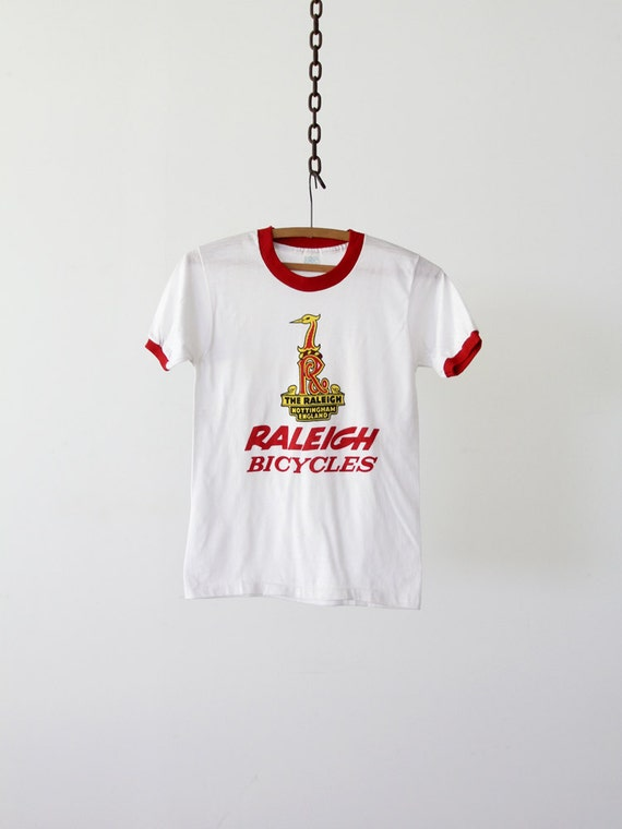 vintage 70s Raleigh bicycle t-shirt, graphic ringer tee