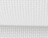 white 11 count cross stitch aida fabric embrodiery fabric  varied size options