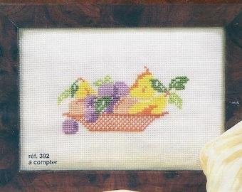 Princesse Cross Stitch Kit  392  Fruits bowl