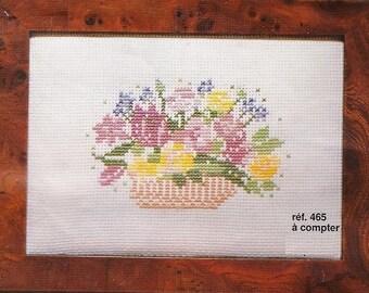 Princesse Cross Stitch Kit  465  Flowers basket