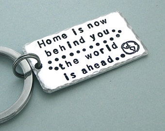 Tolkien Quote Key Ring - Hand Stamped Aluminum - Graduation Gift  - Accessories