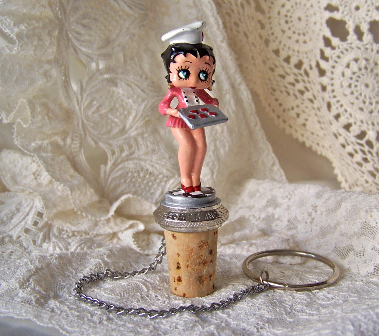Vintage Betty Boop Wine Bottle Stopper