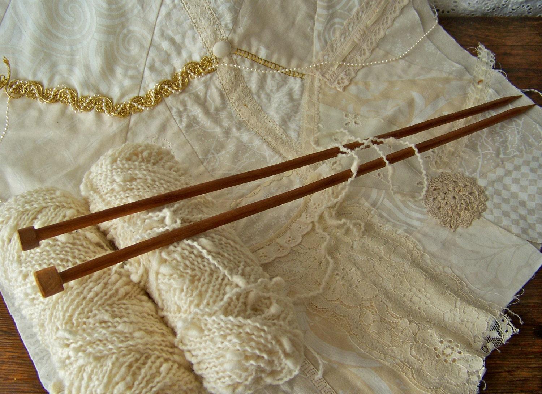 Vintage Knitting Needles : Vintage wood knitting needles by cynthiasattic on etsy