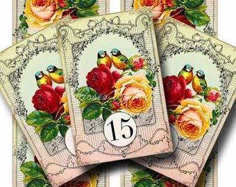 Wedding Table Numbers 11-20 Digital Collage Sheets SUMMER LOVE 10 Printable Tented Cards Instant Download CS199B GalleryCat