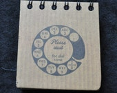 Post It Note Holder Reusable - rotary dial