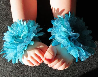 Toe Blooms in Turquoise