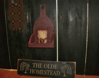 Olde Homestead sign