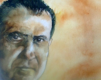 Watercolor Portrait of Richard M. Nixon
