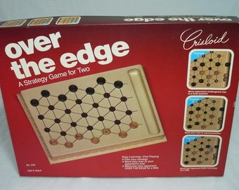 1983 Over The Edge Board Game A Strategy Game for Two Crisloid No. 270 RARE
