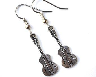 Silver Guitars . Earrings