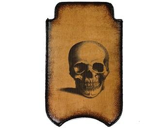 iPhone Leather Sleeve - Skull
