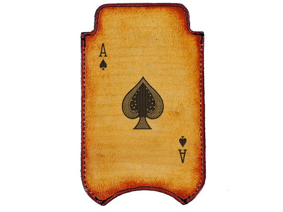 iPhone Leather Sleeve - Ace of Spades