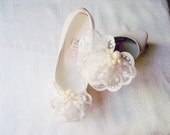 Home coming, prom,FOR graduations dress shoe, FOR homecoming shoe,  accessory for prom shoe Nice Shoe Clips for Wedding Laced lace